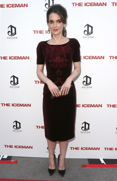 Winona Ryder wearing a dress that fits like a glove, styled by Ms. Erlanger (Photo: Getty).