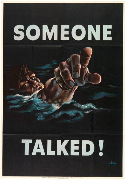 """Someone Talked"" (1942), designed by Frederick Siebel. (Photo: Matt Flynn courtesy Cooper Hewitt, Smithsonian Design Museum)"