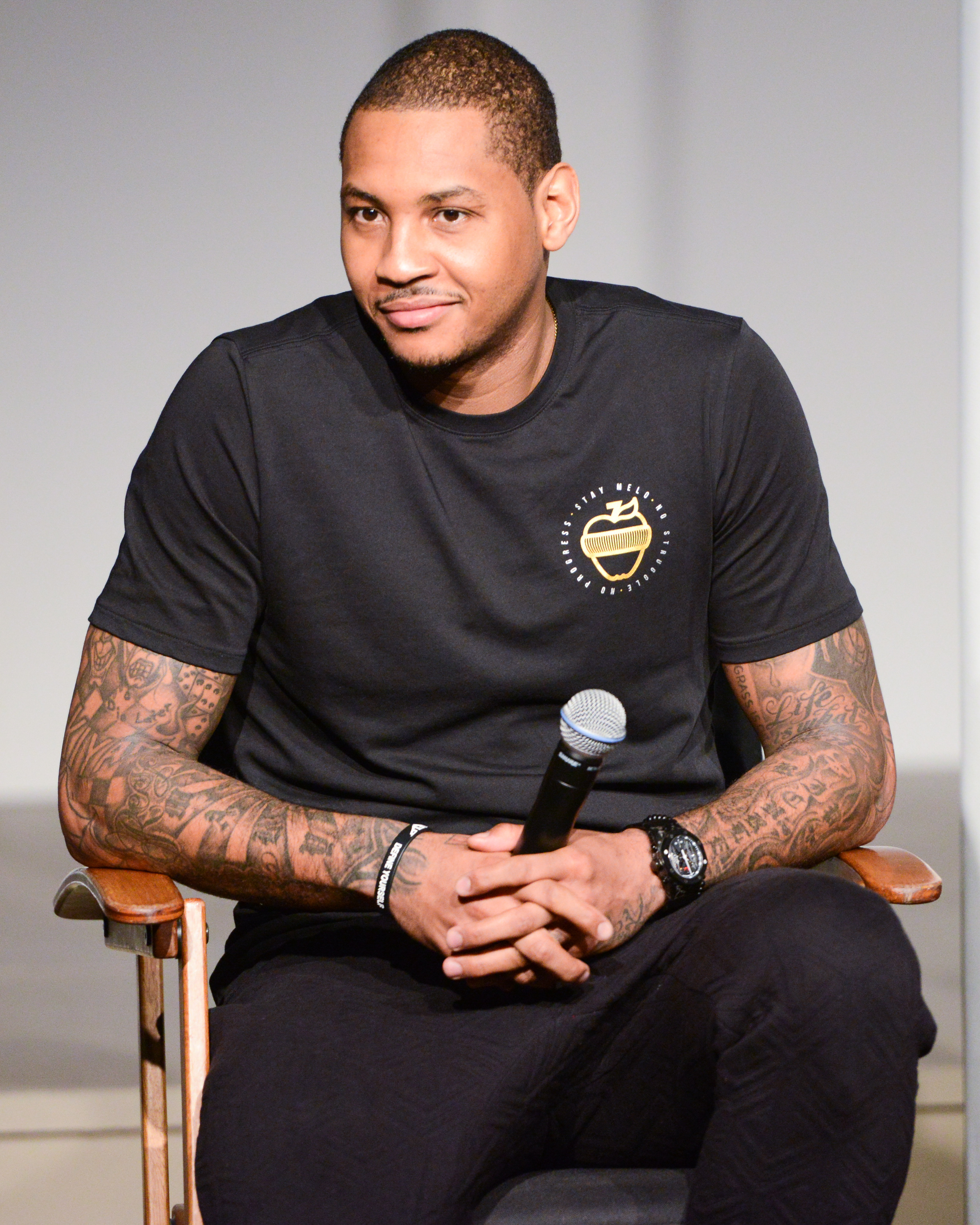Carmelo Anthony at Made Fashion Week (Photo: Made FW).