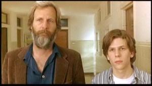 Jeff Daniels and Jesse Eisenberg as Bernard and Walt Berkman as Jonathan and Noah Baumbach.
