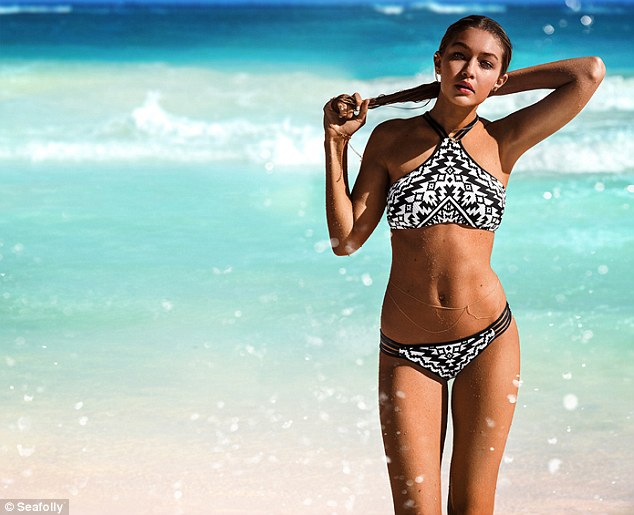 Ms. Hadid models for the Australian brand (Photo: Seafolly).