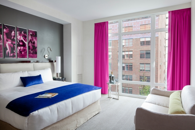 A room at the Gansevoort Park Hotel has many fabulous accommodations to offer.