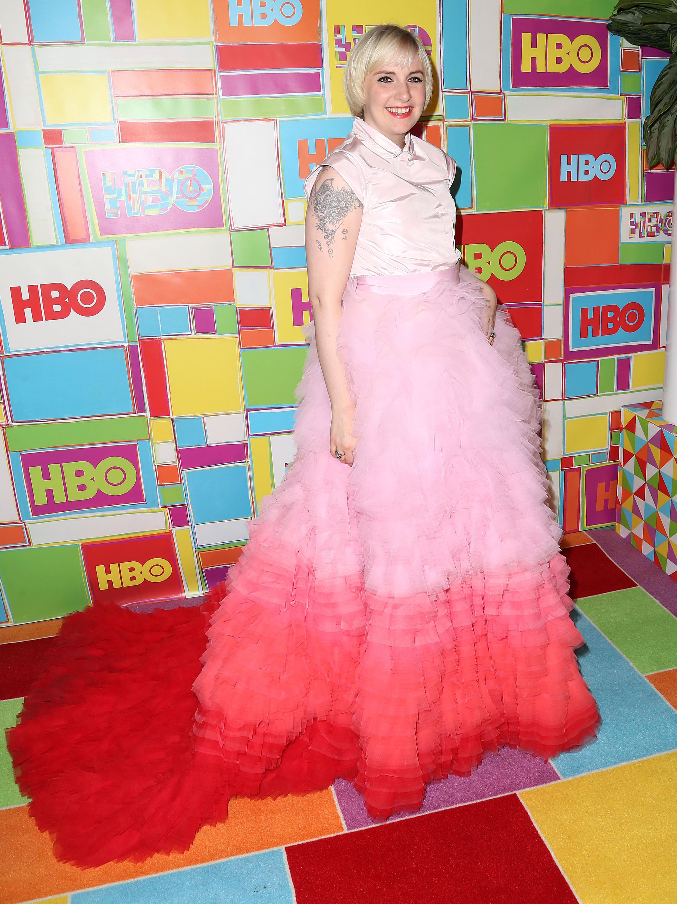 Lena Dunham is often excoriated for her fashion choices (Photo: Getty).