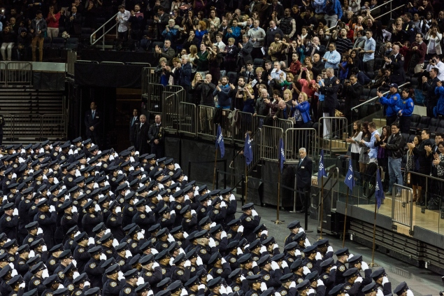 NYPD officers are less than pleased with their new calming exercises of deep breathing and momentary meditation. (Photo: Andrew Burton/Getty Images)