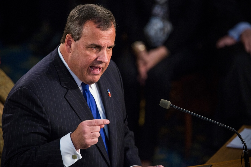 TRENTON, NJ - Governor Chris Christie gives the annual State of the State address on January 13, 2015. The news is not great for a presidential aspirant. New Jersey taxes remain among the highest in the nation and the state has endured eight credit downgrades during Christie's five years in office. (Andrew Burton/Getty Images)