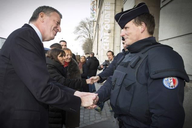 Mayor Bill de Blasio in France last month. (Photo: JOEL SAGET/AFP/Getty Images)