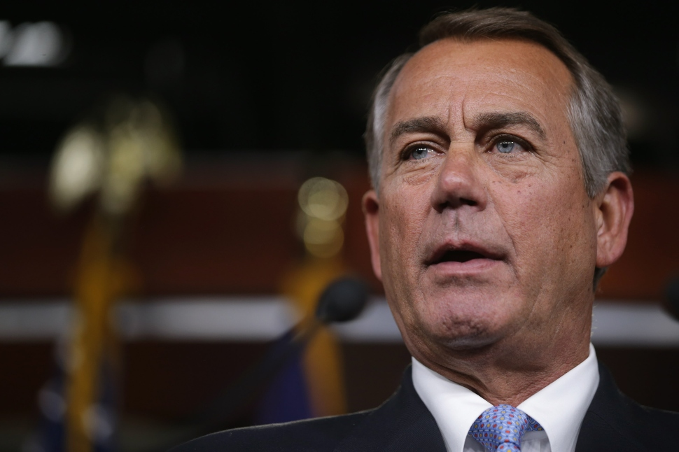 Speaker of the House John Boehner (R-OH) holds his weekly news conference at the U.S. Capitol February 5, 2015 in Washington, DC. (Photo: Chip Somodevilla/Getty Images)