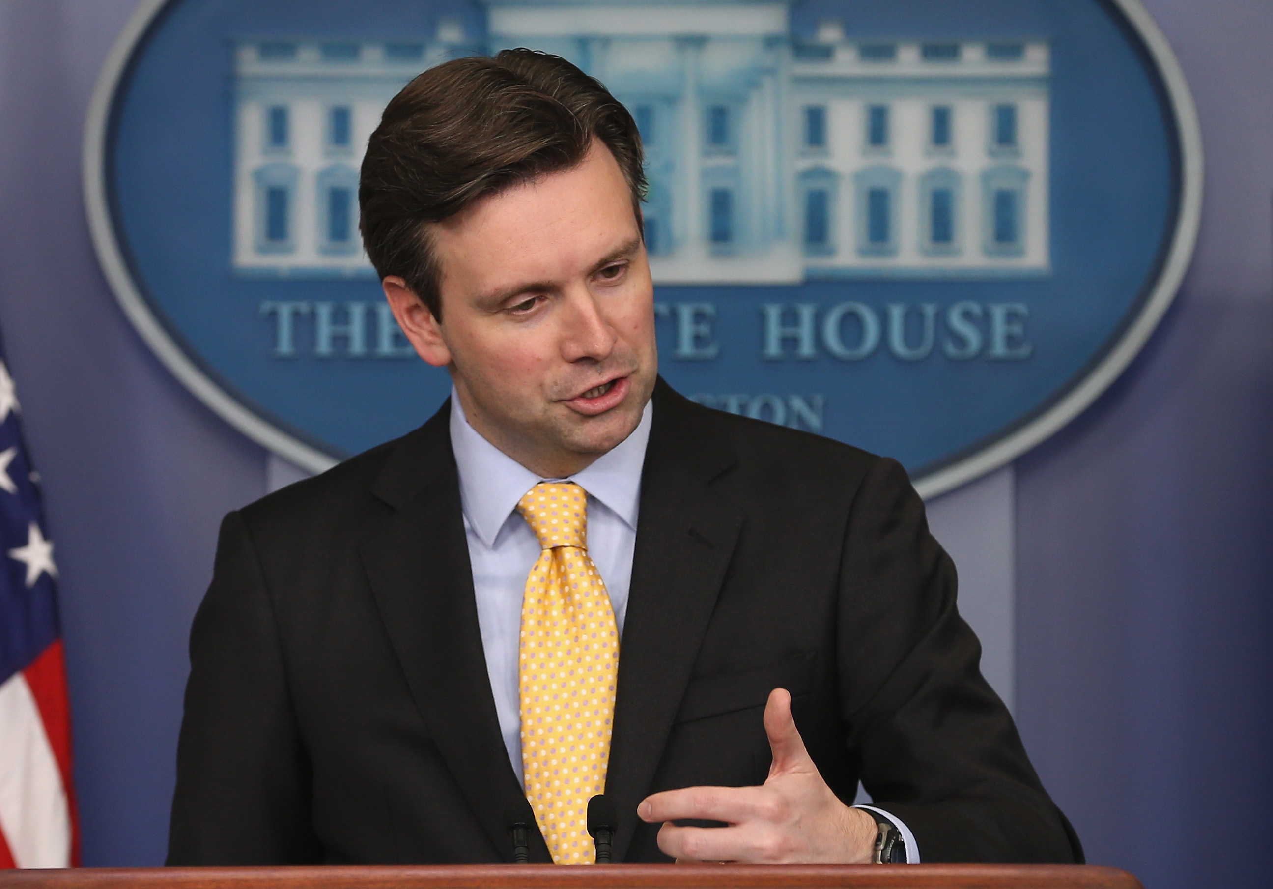 White House Press Secretary Josh Earnest. (Mark Wilson/Getty Images)
