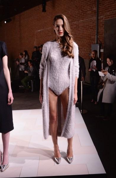 Kaelen's fashion onesie (Photo: Getty).