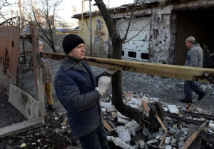 War damage in Donetsk. (Photo/Vasily Maximov/AFP/Getty Images)