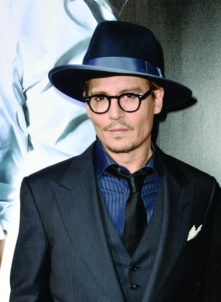 """Johnny Depp on the red carpet at the premiere of """"3 Days To Kill"""""""