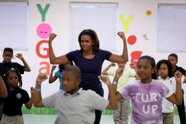 First Lady Michelle Obama at a 'Let's Move' event (Photo: Joe Raedle/Getty Images).