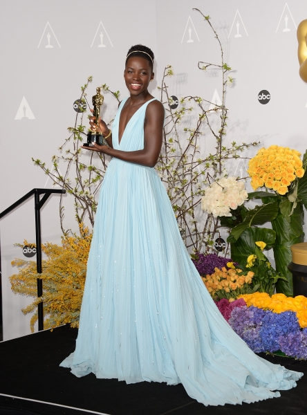 Ms. Nyong'o topped best-dressed lists in Prada at last year's Academy Awards (Photo: Getty).