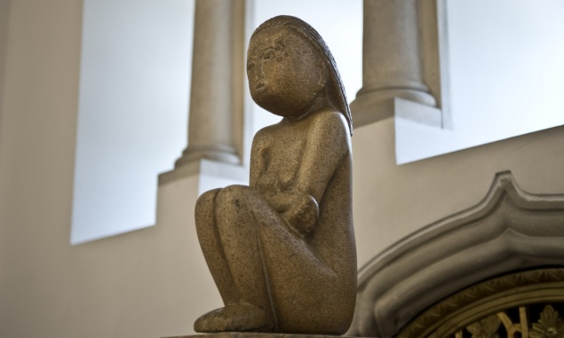 Constantin Brancusi's The Wisdom of the Earth, shown at Cotroceni Art Museum in Bucharest. (Photo: Daniel Mihailescu/AFP/Getty Images)