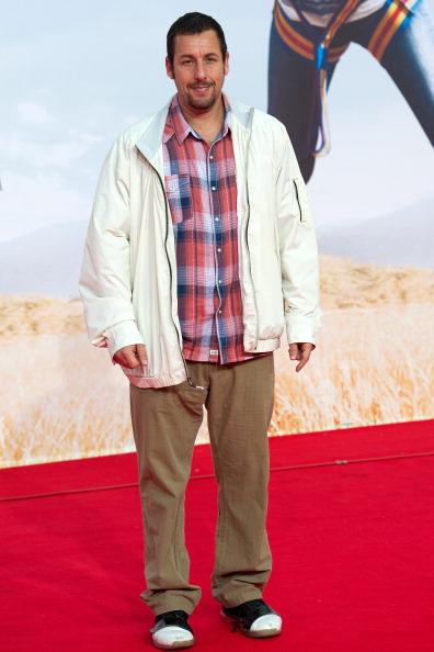 Adam Sandler's take on red carpet dressing (Photo: Getty).