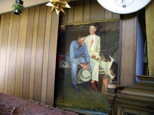 In 2006, the heirs of art collector Donald Trachte Sr. found Norman Rockwell's Breaking All Ties hidden behind a panel in a bookcase; their father bought the work for about $900 in 1960, had a copy made, and hid the real one.