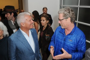 Larry Gagosian and Mark Grotjahn at the John Currin opening at Gagosian Gallery, Beverly Hills. (Photo courtesy David Crotty/Patrick McMullan)