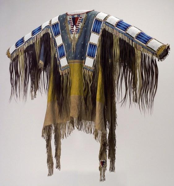 Man's Shirt (1865), Oglala Lakota (Teton Sioux) artists (Photo courtesy Buffalo Bill Center of the West/Metropolitan Museum of Art).