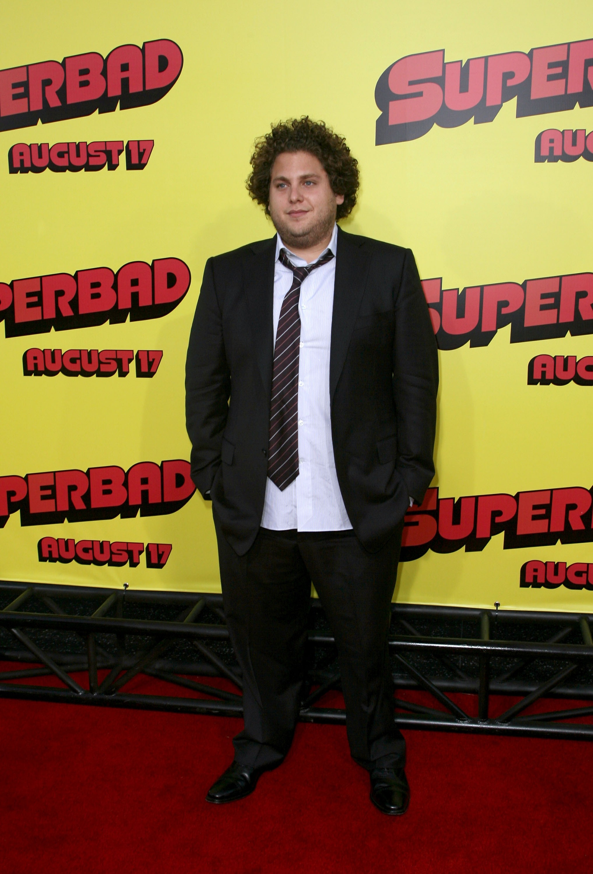 "Jonah Hill, who we must admit has cleaned up his act since his ""Superbad"" days, would look at home at an open mic (Photo: Getty)."