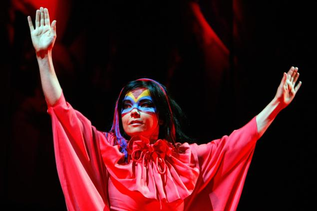 Bjork's performance at the 32nd edition of the Paleo festival. (Photo: DOMINIC FAVRE/AFP/Getty Images).