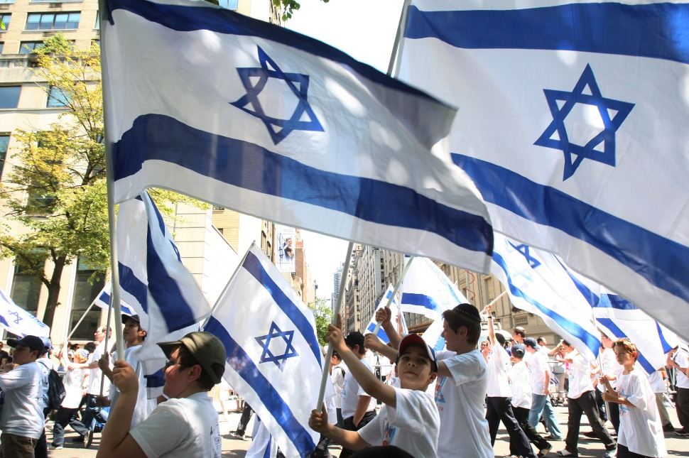 Participants in the annual Salute to Israel Parade march show their support and pride for Israel May 31, 2009 in New York City.  (Hiroko Masuike/Getty Images)