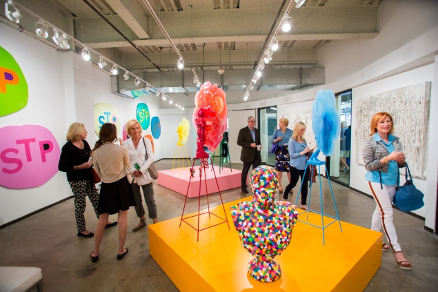 Visitors to the OHWOW, Los Angeles booth at last year's Dallas Art Fair. (Photo: Mei-Chun Jau)