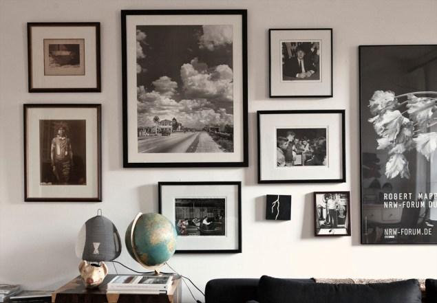 Art wall featuring prints by Norman Bergsma. Photo: Celeste Sloman/New York Observer