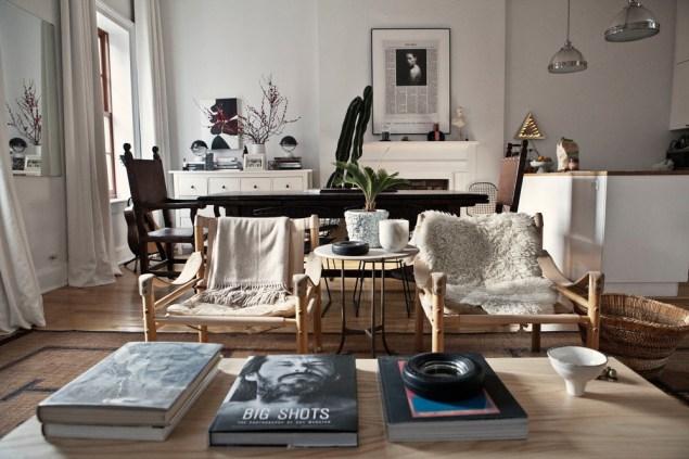 Ariel Ashe's living room. Photo: Celeste Sloman/New York Observer
