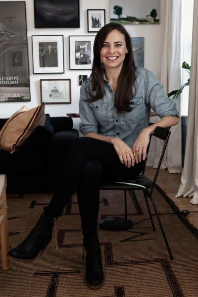 Ariel Ashe in her West Village home