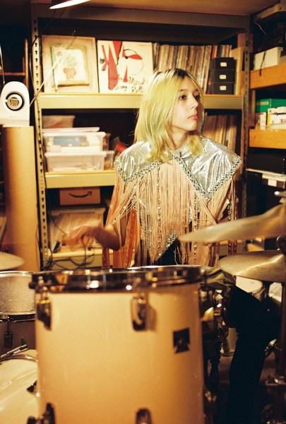 "Arrow de Wilde playing the drums in a still shot from ""Drive Time"" (Photo: John Doe Hub PR)"