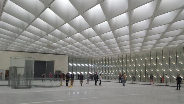 The L.A. Times' Christopher Knight got a first look inside the Broad Museum in Downtown Los Angeles. (Photo by Christopher Knight via Twitter)