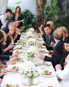 A Dom Perignon lunch at the Chateau Marmont. (Photo by Billy Farrell/BFA)