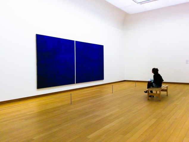 Barnett Newman's Cathedral (1950).