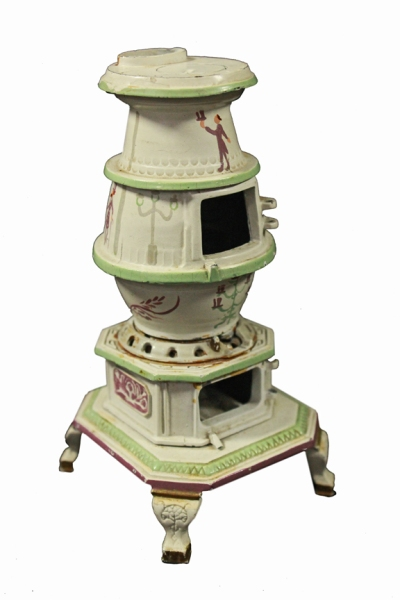 Walt Disney potbelly stove miniature made and painted by him. (Courtesy Van Eaton Galleries)