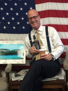 Spokesman Mike Drewniak was given a Jack Daniels send-off for his last day yesterday. His departure marks 'the end of an era.' (Facebook)