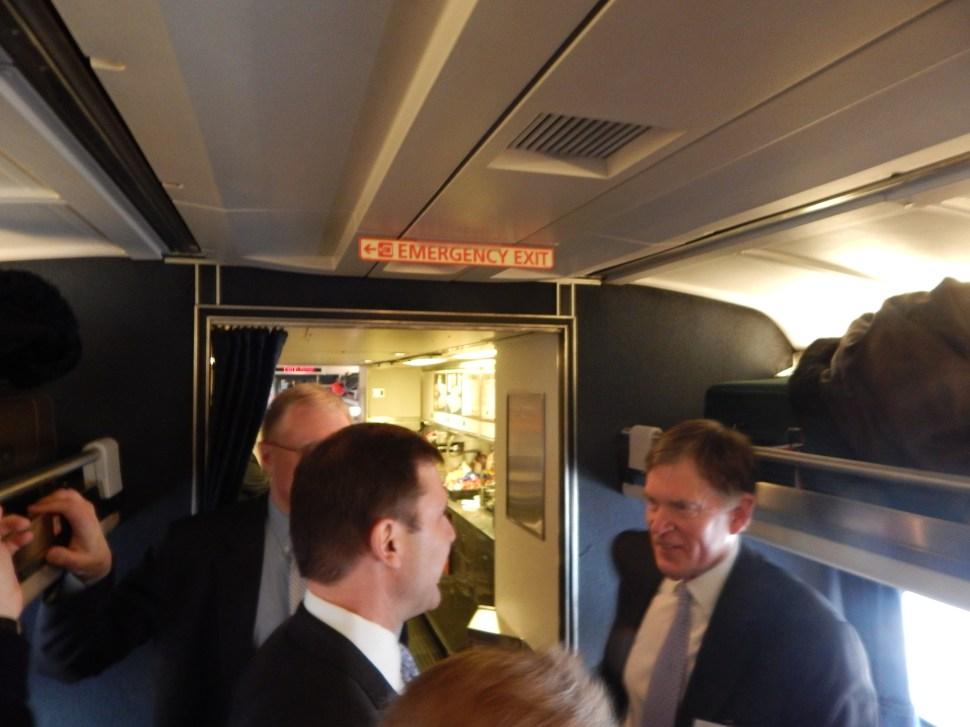 NJ Chamber of Commerce CEO Tom Bracken and Senate Minority Leader Tom Kean on the Chamber Train.