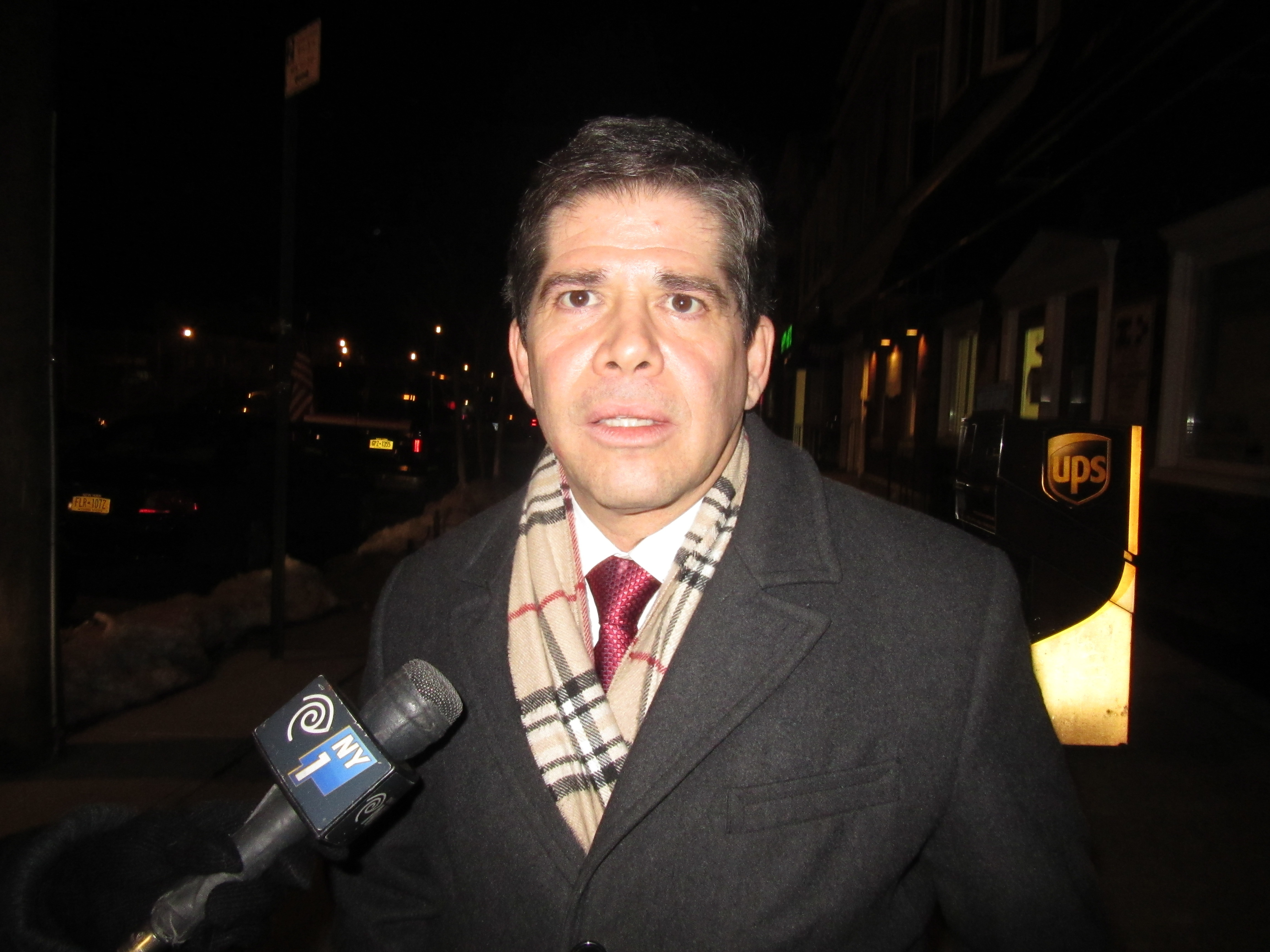 Councilman Vincent Gentile last night (Photo: Will Bredderman/New York Observer).