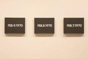 "Installation view of ""Silence—On Kawara"" at the Guggenheim. (Photo by Joe Vitale/New York Observer)"