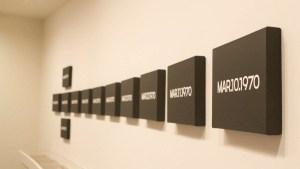 "Installation view of ""Silence—On Kawara."" (Photo by Joe Vitale/New York Observer)"