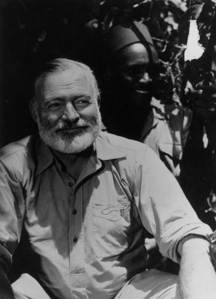 Papa Hemingway on safari in Africa in 1954. (Photo: Getty Images)