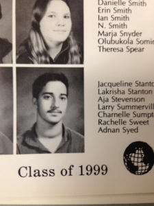Adnan Syed's yearbook photo, 1999.