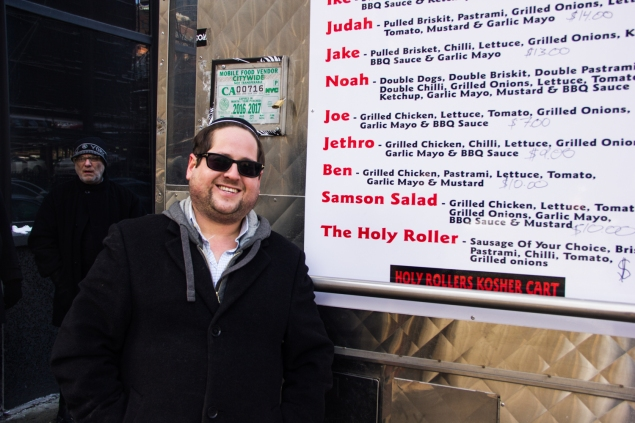 Yisroel Mordowitz, the owner of Holy Rollers kosher food cart
