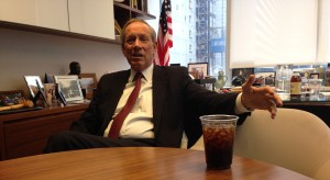 George Pataki in his office at Chadbourne Park (Photo: New York Observer)