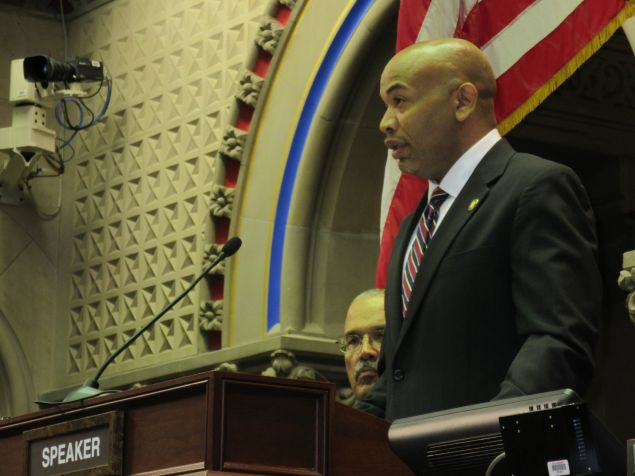 Assembly Speaker Carl Heastie upon his election in February (Photo: Will Bredderman for Observer).