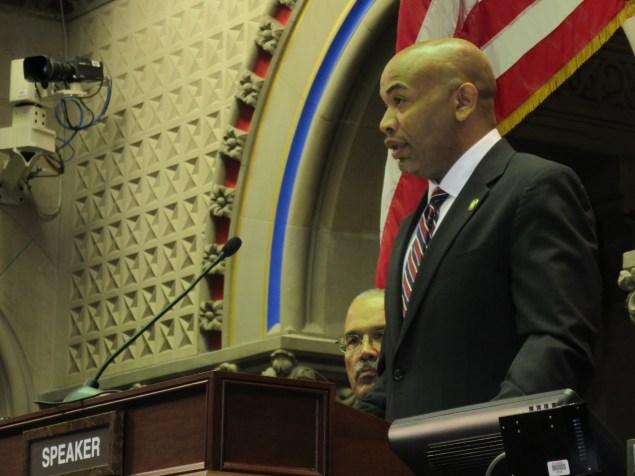 Assembly Speaker Carl Heastie today (Photo: Will Bredderman/New York Observer).