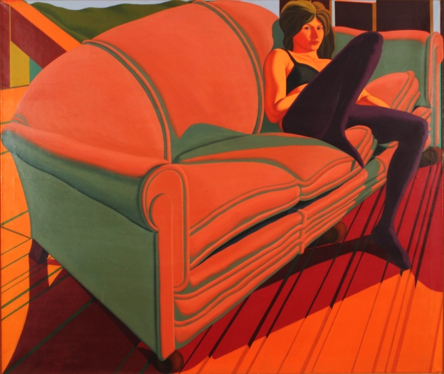 Jack Beal, Sondra on Sofa (1968). (Courtesy George Adams Gallery)