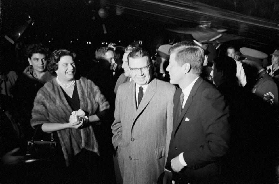 JFK and RJH campaigning at the War Memorial in Trenton in 1961.