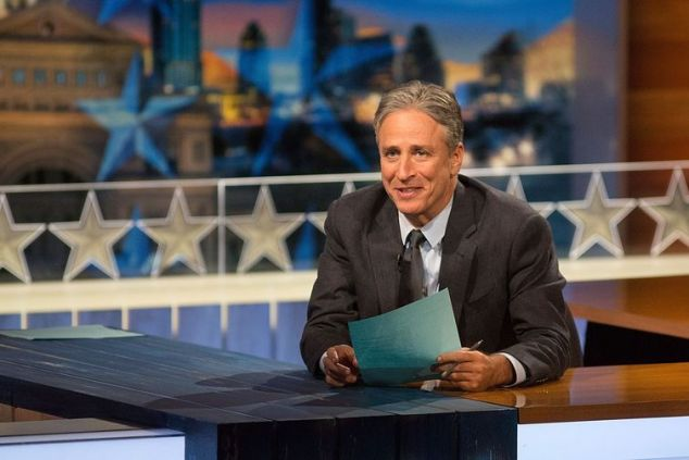 Jon Stewart says goodbye to The Daily Show. (Rick Kerns for Comedy Central)