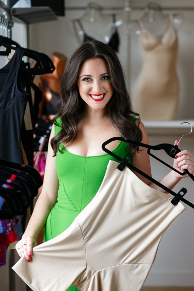 Ms. Erlanger holds Maidenform shapewear, for which she is a spokesperson (Photo: Alison Brod PR).