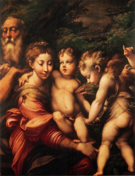 Illustration by Carlos Zamora; A painting attributed to the 16th century Italian master Parmigianino, titled Rest on the Flight into Egypt, allegedly went missing somewhere between New York and Milan.